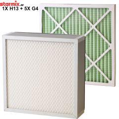 DUSTCO filterpakket met 1 hoofdfilter HEPA 13 en 5 voorfilters G4